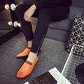 Весной 2017 Британский мужская обувь Doug ленивый тонкий версия ступит упругие ноги молодежи вождения обуви зашнуровать мужчин обувь