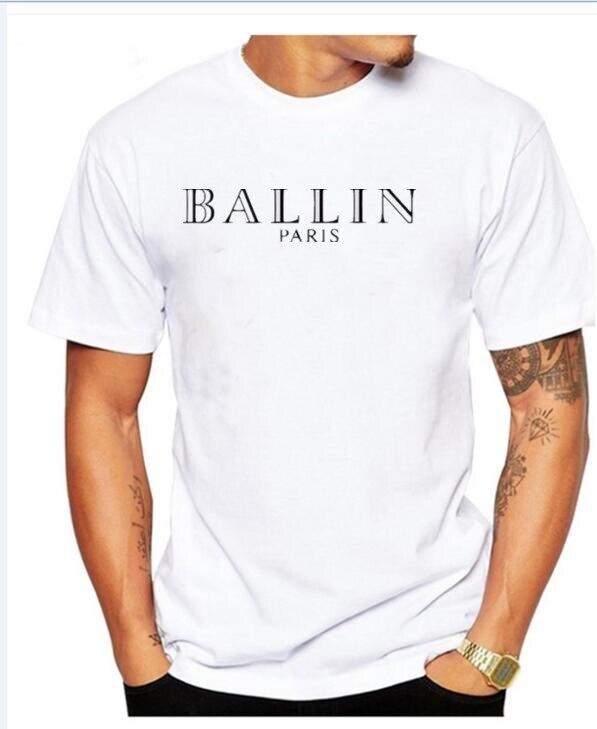 2017 NYHET Herrkläder O-Hals Ballin Amsterdam Grafisk Unisex T-shirt - Herrkläder