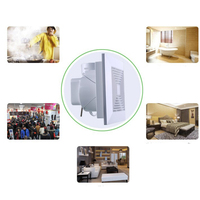 Industrial Ventilation Extractor Duct Exhaust Fan Commercial Air Blower Fan Kitchen Bathroom Window Ceiling Wall Mounted
