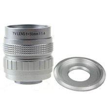 Фуцзянь 50 мм F1.4 CC ТВ для камеры наружного наблюдения+ c-крепление к sony A6000 A6500 A6300 A5000 NEX-5T N-3N N6 N7 N-5R NEX6 NEX7