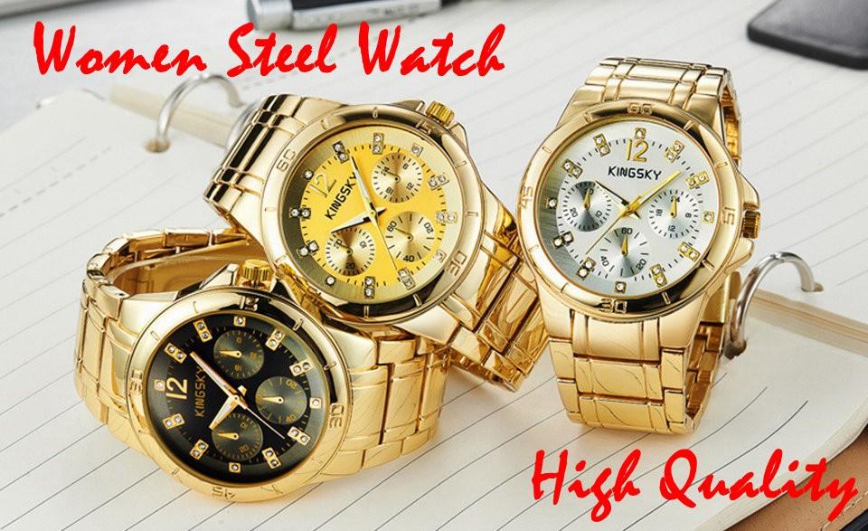 Women Steel Watch Fashion Brand