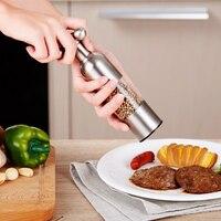 1 PCS Kitchen Creative Gadgets Pepper and Salt Grinder Grinding Black Pepper Mill Garlic Grinding Spice Grinder