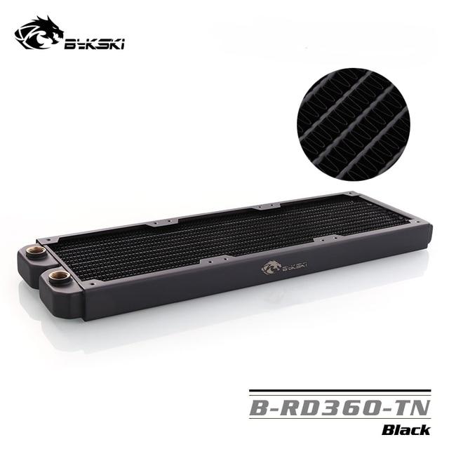 B RD360 TN Bykski, grzejniki 360mm jeden rząd, grubość 29mm, standardowe chłodnice wodne, odpowiednie dla wentylatorów 120*120mm