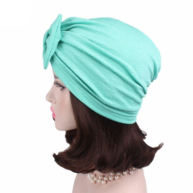 Image 5 - מוסלמי מוצק מצנפת נשים גדול Bowknot למתוח חיג אב טורבן כובע צעיף כובעים שווי ראש גלישת הכימותרפיה בימס קשתות שיער אבזרים-באביזרי שיער לנשים מתוך אביזרי אופנה באתר