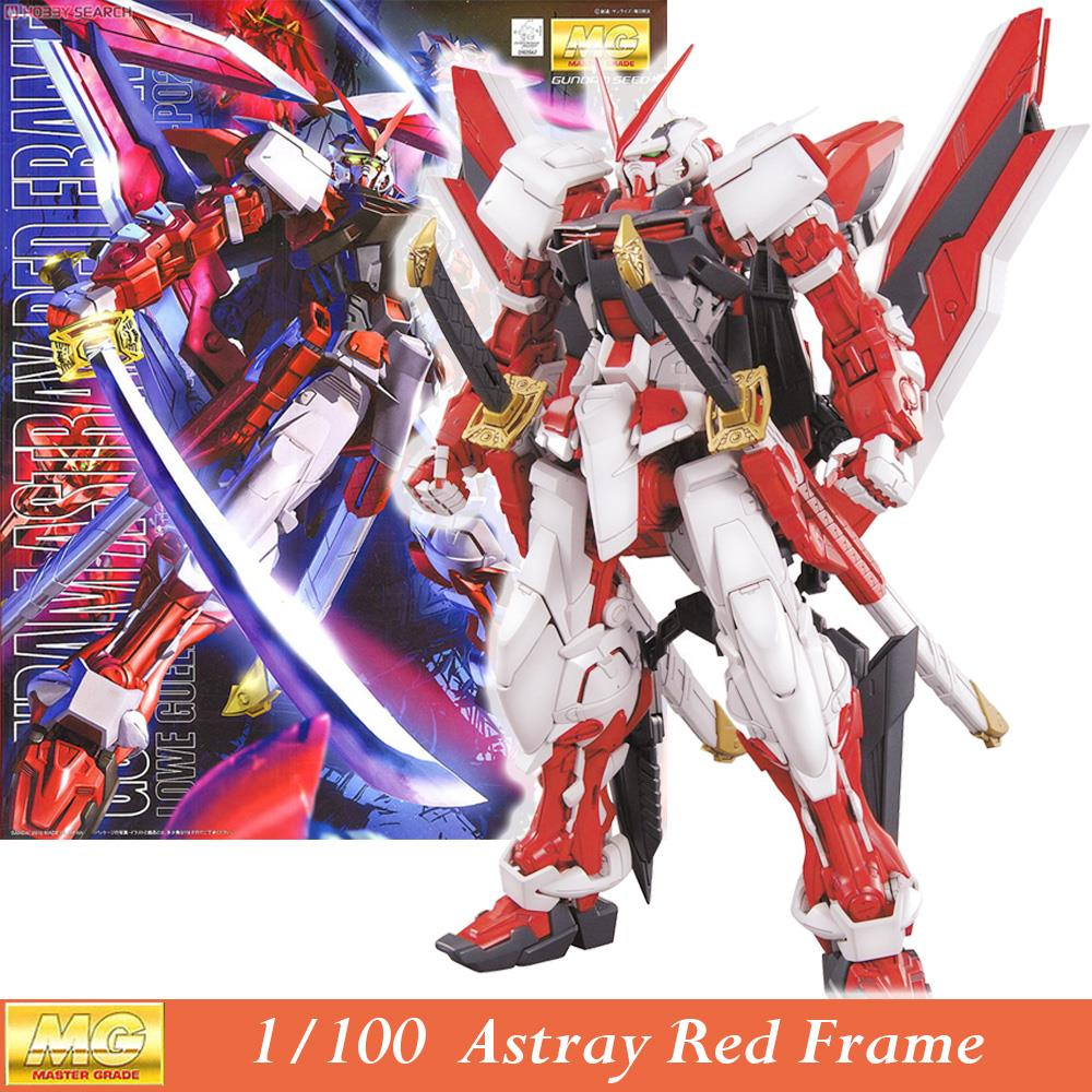 Daban Model MG Gundam Astray Red Frame MBF-P02 KAI 1/100 Japanese anime assembled Kits PVC Action Figures robots kids toys free shipping action figures robot anime assembled gundam mg 1 100ew wing zero gundam luminous stickers original box gundam