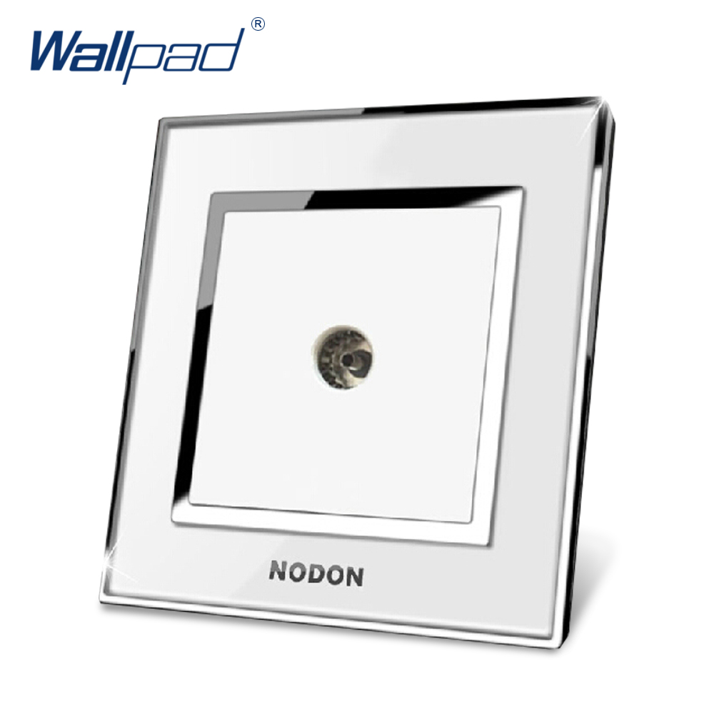 TV Television Socket Hot Sale China Manufacturer Wallpad Push Button Luxury Arylic Mirror Panel Wall Light Switch double computer socket free shipping hot sale china manufacturer wallpad push button luxury arylic mirror panel wall