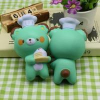 Car-styling 1PC Cute Chef Bear Soft Cartoon Doll Decompression Pressure Relief 718 levert dropship