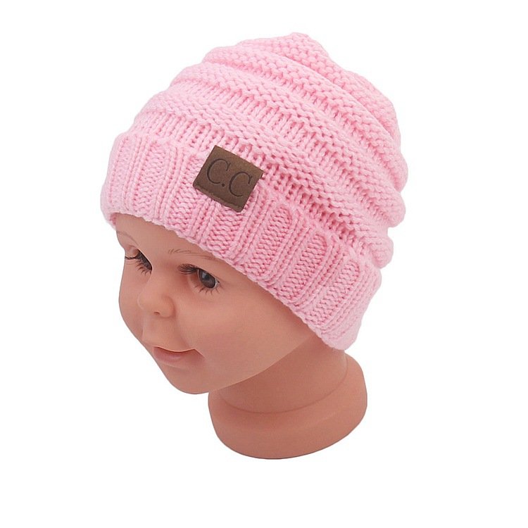 4671b06a05fa93 Aliexpress.com : Buy Winter Hats For Kids CC Beanie Warm Hat Knit Beanies  Slouchy Hats For Girls Cute Boys Knitted Skullies Cap Children Baggy Hats  from ...