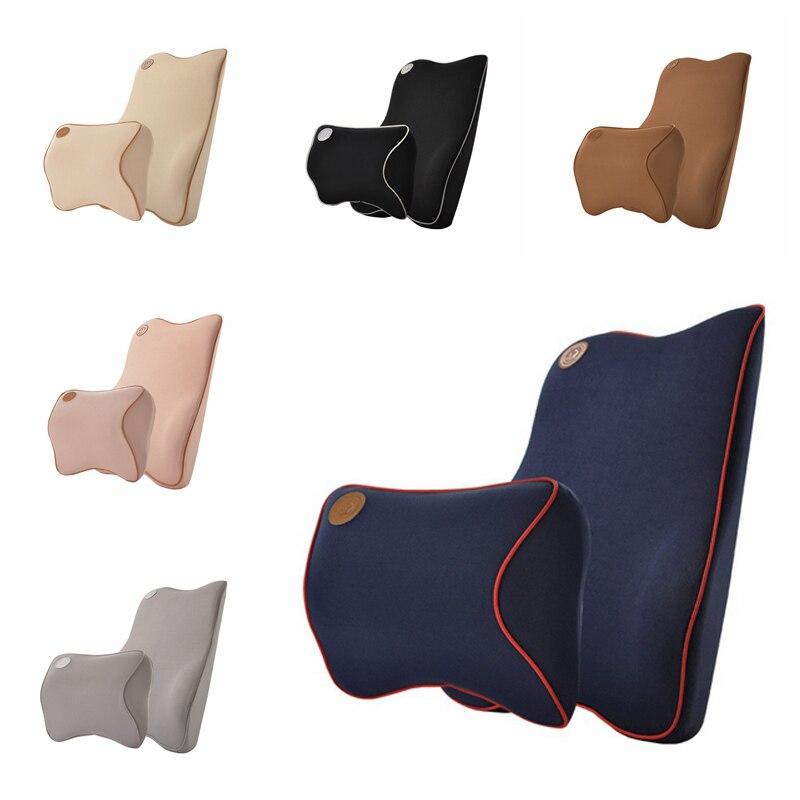 Appui-tête de voiture lombaire costume soutien lombaire oreiller voyage Auto tête cou reste dos soutien coussin oreiller pour le cou voiture style