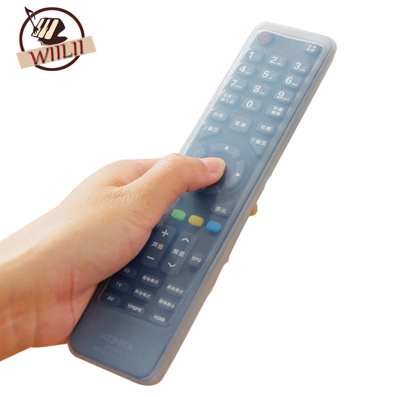 WIILII 1 Pc Waterproof Universal Silicone TV Remote Control Cover Protective Case For Air Condition TV Set Dust Proof Tools
