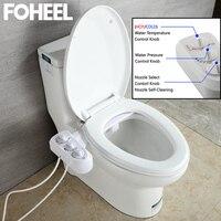 FOHEEL Nicht-Elektrische Wc-sitz Bidet Heißer Kaltes Wasser Badezimmer Muslim Shattaf Waschen Bidet Sprayer Selbst-Reinigung Düse