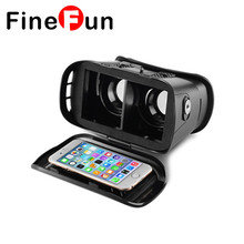 2017 Новый 3D Очки Поляризованные Headmount VR Картон Виртуальная Реальность Мобильный Телефон 3D Видео Очки для 4.0-6.0 дюймов смартфон