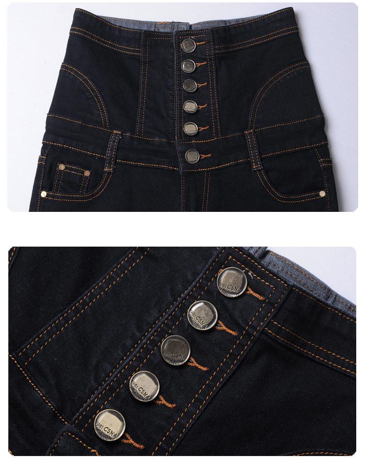 18 Jeans Womens High Waist Black Vintage Denim Long Pencil Pants Plus Size 6XL Woman Jeans Camisa Feminina Lady Fat Trousers 15
