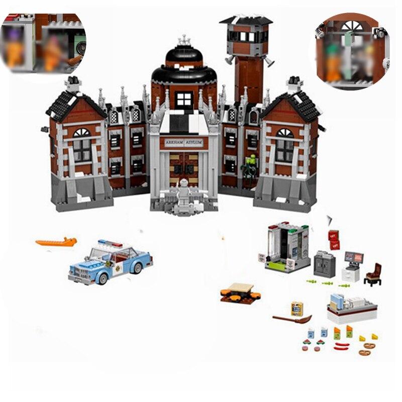 Batman Genuine Movie Arkham Asylum The Joker Set Batman Super Heroes Building Blocks Toy Gift