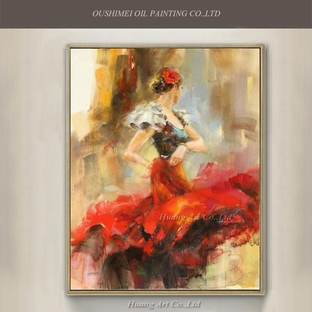 à Vendre Gros Danseur Espagnol Peinture à L Huile Peint La