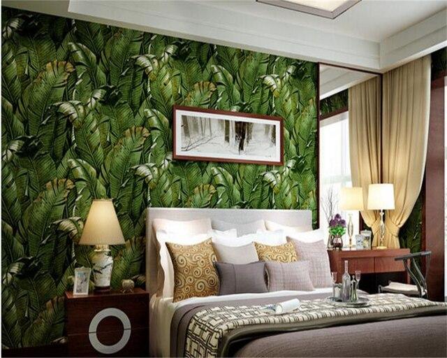 Beibehang Zuidoosten papel de parede Aziatische groene planten ...