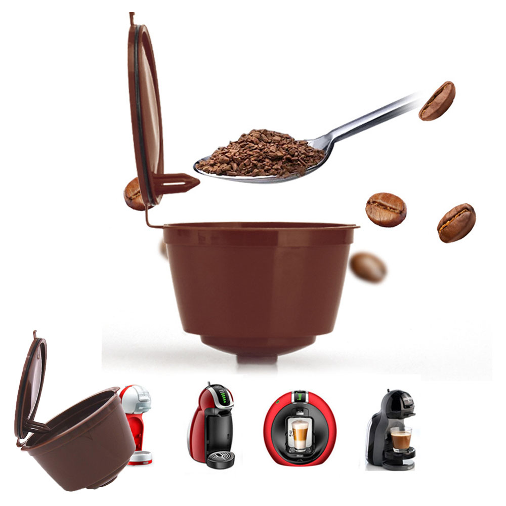 Refillable Dolce Gusto Coffee Capsule Reusable Filter Compatible with Nescafe Refill