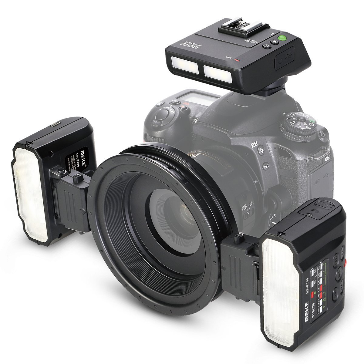Meike MK-MT24 Macro Twin Lite Flash for Nikon Digital SLR Cameras meike mk d750 battery grip pack for nikon d750 dslr camera replacement mb d16 as en el15 battery