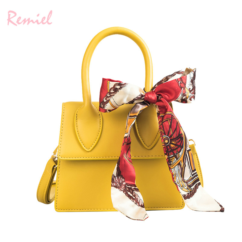 2018 Summer New Female bag Quality PU Leather Womens bag Simple Small Tote bag Womens Designer Handbag Ribbon Shoulder bags2018 Summer New Female bag Quality PU Leather Womens bag Simple Small Tote bag Womens Designer Handbag Ribbon Shoulder bags