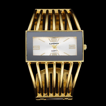 2016 relogio feminino Mode Femmes Robe Montre De Luxe Marque En Acier Inoxydable Montre-Bracelet avec 18 K Or Anneau Dames Horloge Relojes