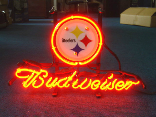 Custom Business Neon Sign Board For Pittsburgh Steelers Football