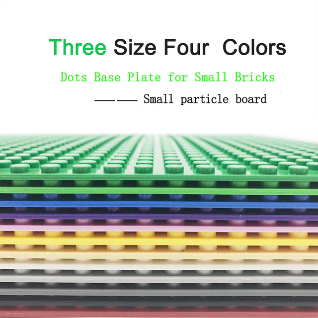 Classic Dots Base Plate for Bricks Baseplate Board DIY City Building Block Toys For Children Compatible Duplos Large particles