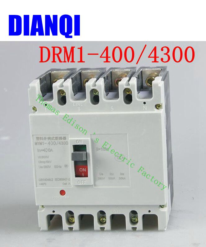 CM1-400/4300 MCCB 200A 250A 315A 350A 400A molded case circuit breaker CM1-400 Moulded Case Circuit Breaker 350a 3p mccb 35ka moulded case circuit breaker suits for south africa
