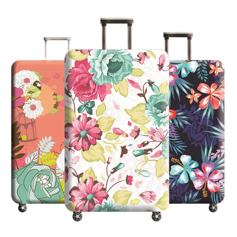 Эластичные Защитные чехлы для чемоданов с цветочным узором, чехол для чемоданов от пыли для чемоданов 18-32 дюймов, аксессуары для путешествий H197