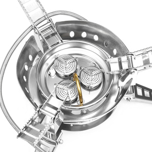 Image 2 - BULin BL100 B17 חיצוני קמפינג גדול כוח גז תנור Windproof נייד פיצול גז מבער עבור חיצוני בישול מנגל קמפינג טיולים