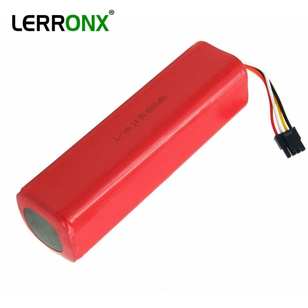 Batteries rechargeables Li ion 14.8 V 6000 mAh remplacement aspirateur accessoires pour xiaomi mi robot roborock S50 S51 batterie
