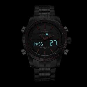 Image 4 - NAVIFORCE relojes deportivos para hombre, de cuarzo, analógico, Digital, de pulsera, de acero completo, masculino