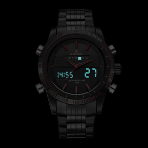 Image 4 - NAVIFORCE люксовый бренд, мужские модные спортивные часы, мужские кварцевые цифровые аналоговые часы, мужские полностью Стальные наручные часы, мужские часы