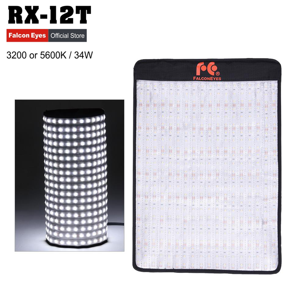 Falconeyes RX-12T 34W 423pcs LED Beads Slim Fill-in Foldable LED Camera Photography Light Lamp for Studio Video Film Shooting