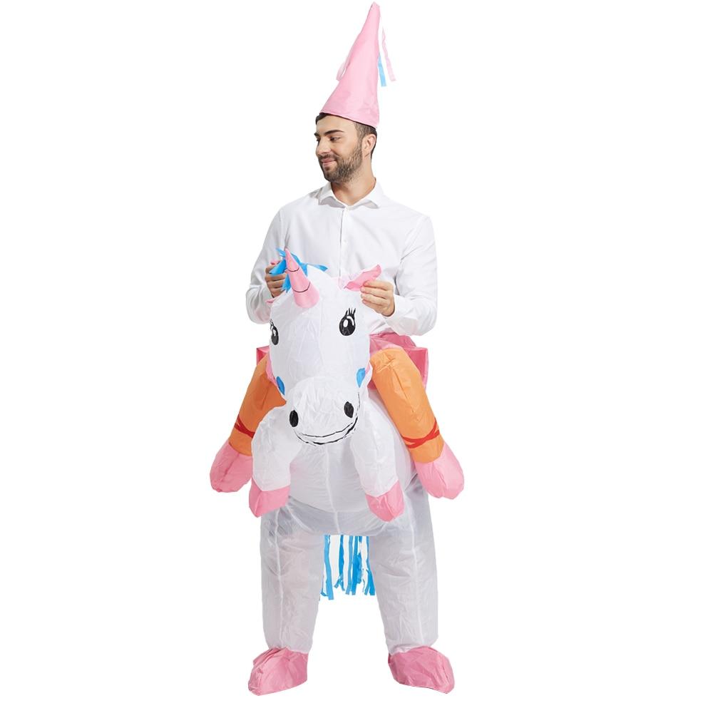 Uppblåsbara Unicorn Kostym Uppblåsbara Pegasus Kostym Fancy Suit - Maskeradkläder och utklädnad - Foto 1
