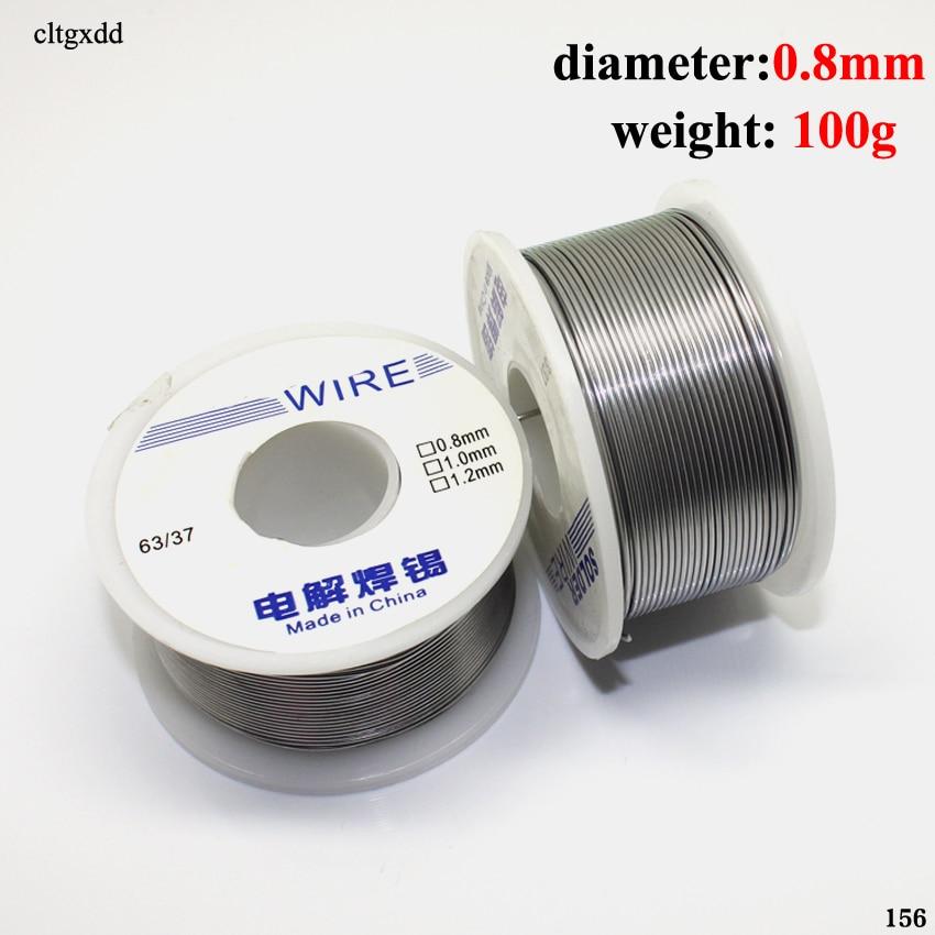 Werkzeuge Cltgxdd Industrielle Solder Draht 63/37 50g 1,0mm/0,8mm 2,0-2.3% Flux Kolophonium Core Weldring Zinn Blei