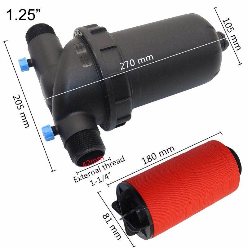 "1.25"",1.5"",2"" Water Filter Laminations Filter Garden Hose Drip Irrigation Fittings 120 Mesh Garden Watering Sprayer Tools 1 Pc"