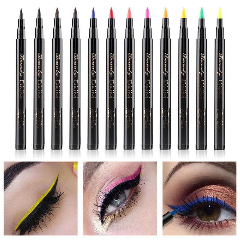 Pencil Makeup-Tools Liquid-Eyeliner-Pen Cat-Eye-Makeup Comestics Long-Lasting Neon Black