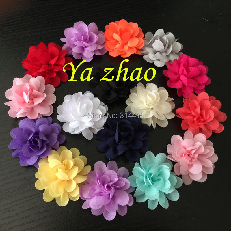 "2"" Pretty Chiffon Flower,  hair flower, hair accessories, 100pcs/lot 14 color Free shipping"
