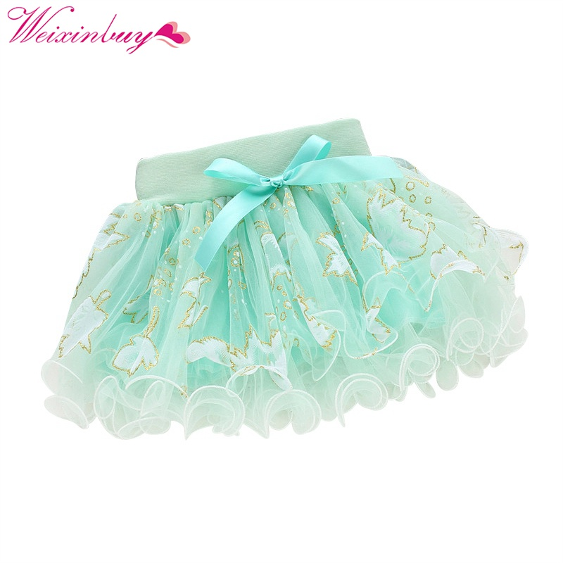 Baby Girls Kids Floral Tutu Skirt Bowknot Pettiskirt Party B