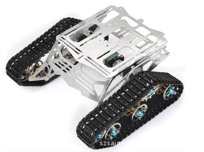 Tracked vehicle  Metal robot Tank chassis Track Caterpillar car frame platform C