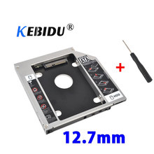 Kebidu SSD HDD HD Festplatte Fahrer Externe 2nd Caddy SATA 3,0 Fall Gehäuse für 12,7mm CD DVD ROM optical Bay für Notebook