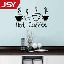 Jiangs Yu 1 PC Beautiful Design Hot Coffee Mugs Tea Art Decal Vinyl Kitchen Wall Stickers