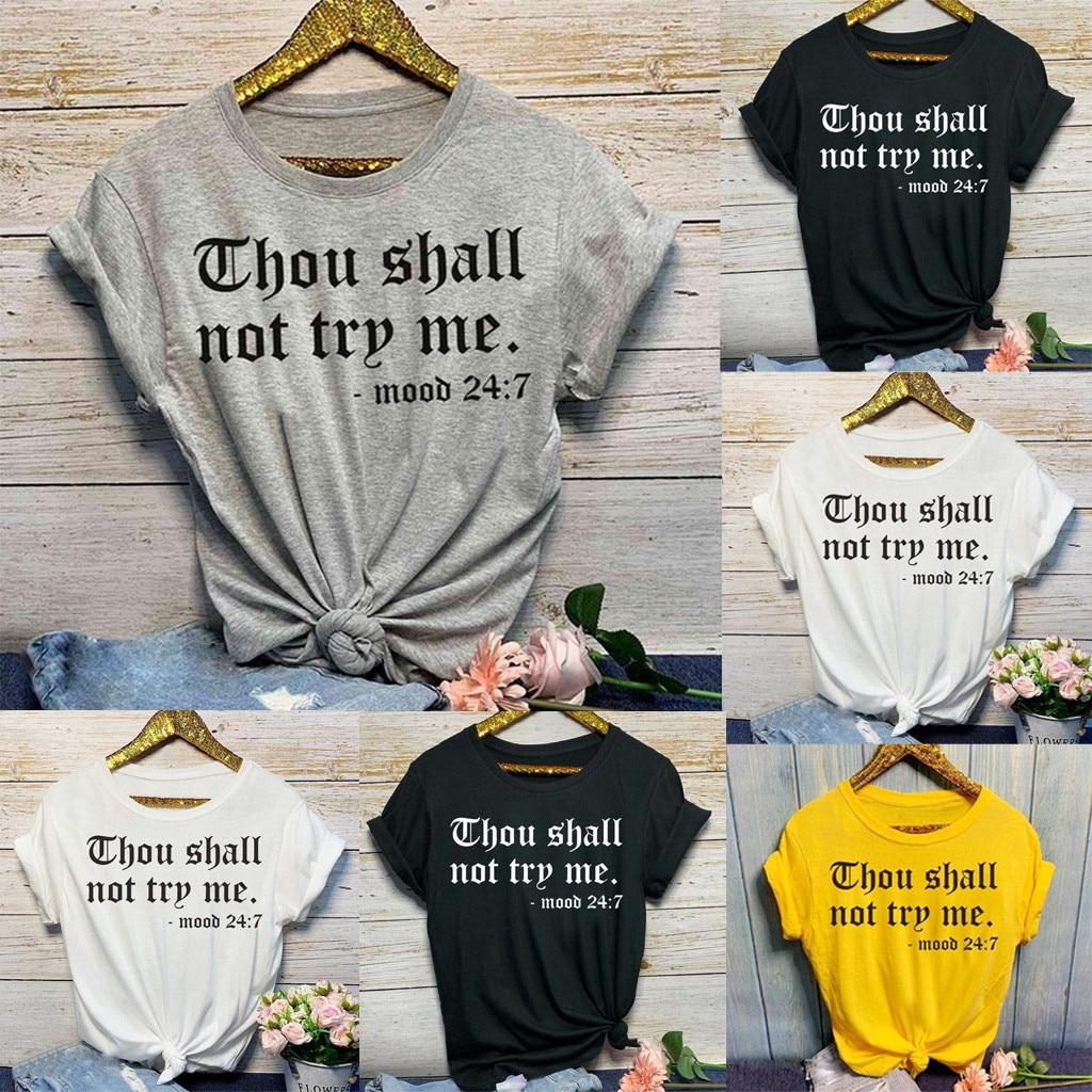 Women's Letter Crop Top Short Sleeve O-Neck T Shirts Women Brand New Casual Tee Tops Summer Female T-shirts for women Cute