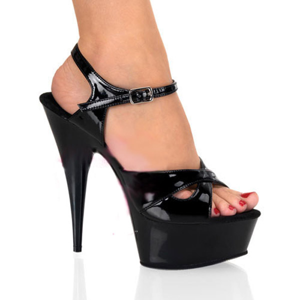 performance shoes 15 cm super high heels black sandals, Roman style photos show the shoes emphasis has been placed on the appeal of shoes pu sandals 15 cm super stilettos model stage photos of shoes