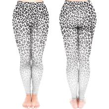 Kobiety Sexy moda biały Ombre wzór lamparta legginsy tanie tanio CuiYun 54144 Kostek STANDARD Dzianiny Streetwear Poliester Elastan Leopard
