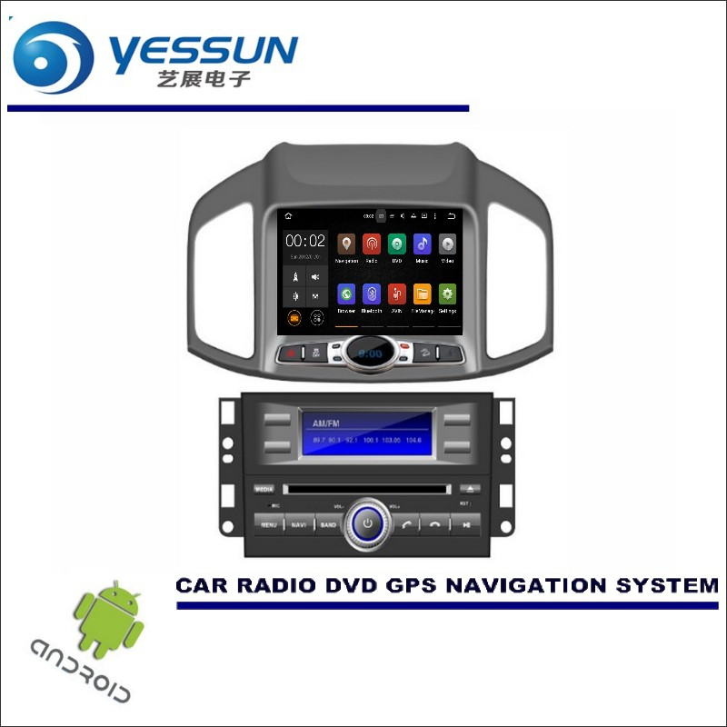 YESSUN Wince / Android Car Multimedia Navigation System For Chevrolet Captiva 2011~2016 / CD DVD GPS Player Navi Radio Stereo HD цена