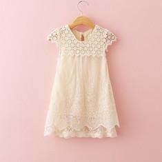 2016-New-Girls-Summer-Evening-Dress-Children-Hollow-Out-Lace-Princess-Dress-Baby-Girl-O-Neck
