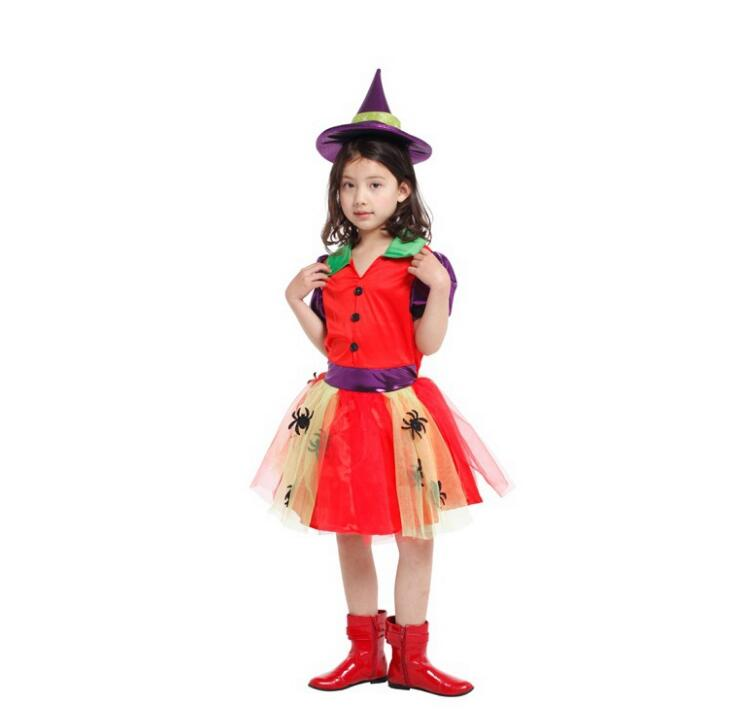 Marvelous Best Selling Arrival Halloween Party Children Kids Cosplay Witch Costume  For Girls Halloween Costume Party Witch Dress With Hat In Girls Costumes  From ...