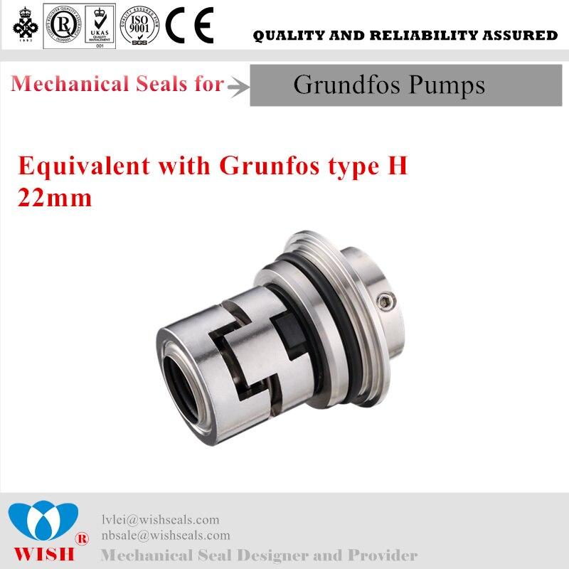 22mm Mechanial di tenuta per pompa Grundfos CR serie di tenuta cartuccia di tipo H22mm Mechanial di tenuta per pompa Grundfos CR serie di tenuta cartuccia di tipo H
