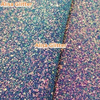 Glitter Magic Faux Leather Fabric Mixed Color Soft Purple Chunky Glitter Fabric Pu leather Fabric For Bow DIY Wallpaper GM012